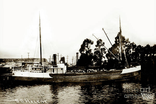 Photograph - Steam Schooner Helene At San Padero by California Views Archives Mr Pat Hathaway Archives