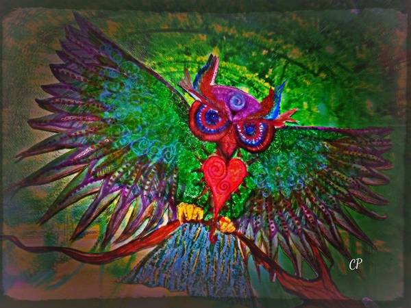 Painting - Ss Owl by Christine Paris
