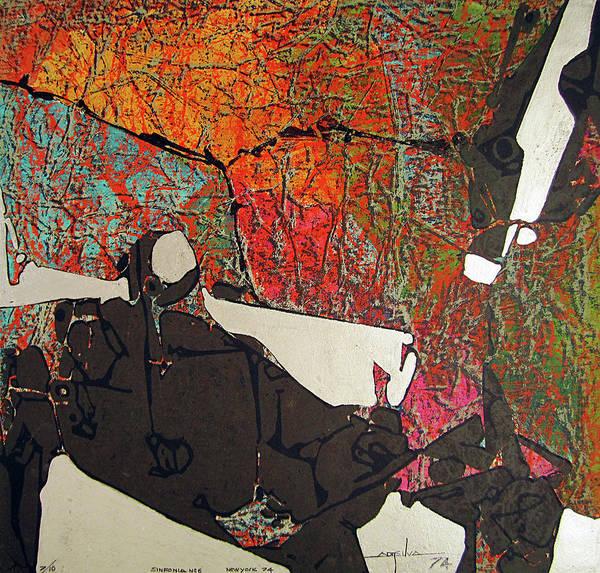 Abstractionism Painting - Ss1974ny001 Sinfony No.6 7-10 15x14.25 by Alfredo Da Silva