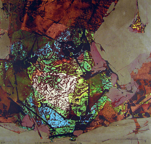 Abstractionism Painting - Ss1978ny001 Luz De Otono 3-7 15x14.25 by Alfredo Da Silva