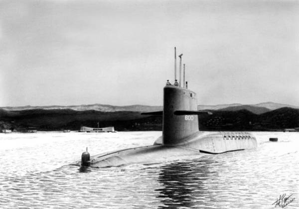 Wall Art - Drawing - Ssbn-600 by Lyle Brown