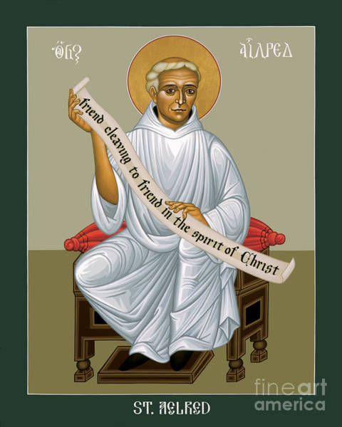 Painting - St. Aelred Of Rievaulx - Rlaor by Br Robert Lentz OFM