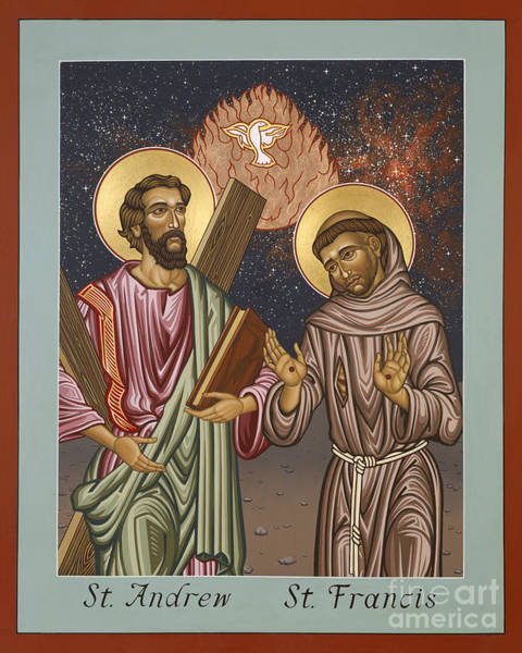 Painting - St. Andrew And St. Francis Of Assisi - Lwand by Lewis Williams OFS