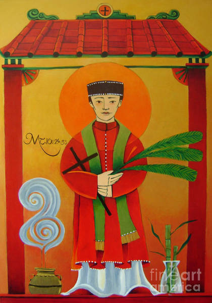 Painting - St. Andrew Dung-lac - Mmdul by Br Mickey McGrath OSFS