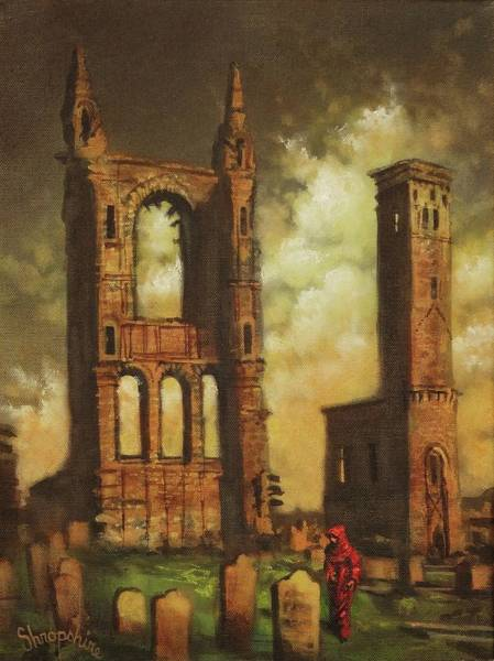 Fife Painting - St Andrews Cathedral by Tom Shropshire
