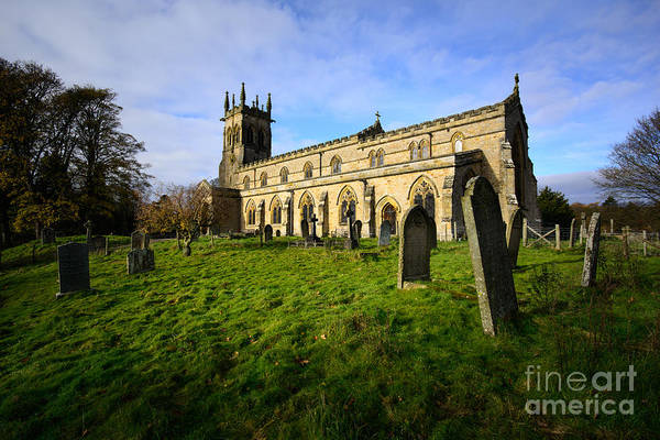Yorkshire Wall Art - Photograph - St Andrews Church, Aysgarth by Smart Aviation