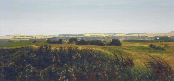 Fife Painting - St Andrews From The Golf Course, 9th Hole by Rodger Insh