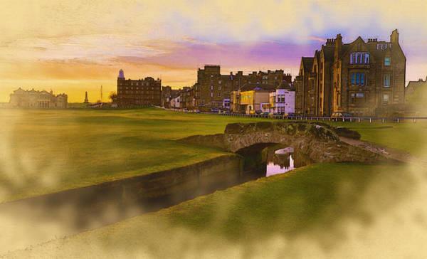 Lpga Digital Art - St Andrews Links At Sunset by Don Kuing