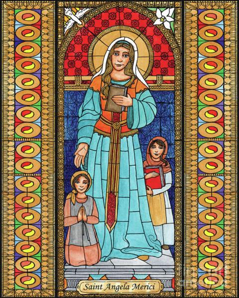 Painting - St. Angela Merici by Brenda Nippert