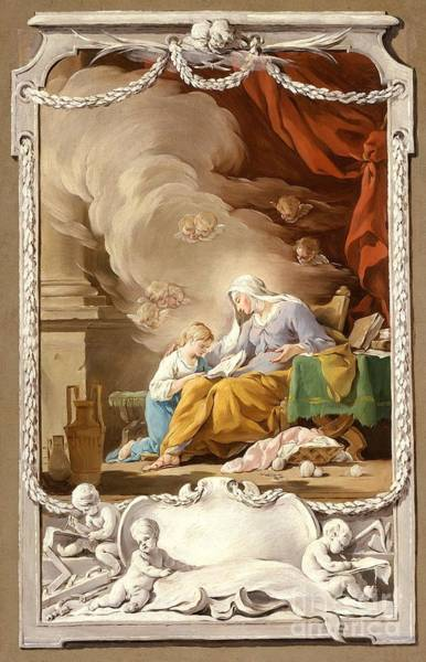 1781 Painting - St. Anne Revealing To The Virgin The Prophecy Of Isaiah by MotionAge Designs