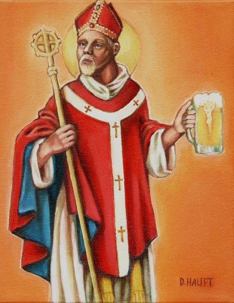 Bier Painting - St. Arnold Of Metz by Donna Haupt