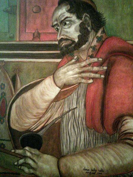 Painting - St. Augustine by Alma Bella Solis