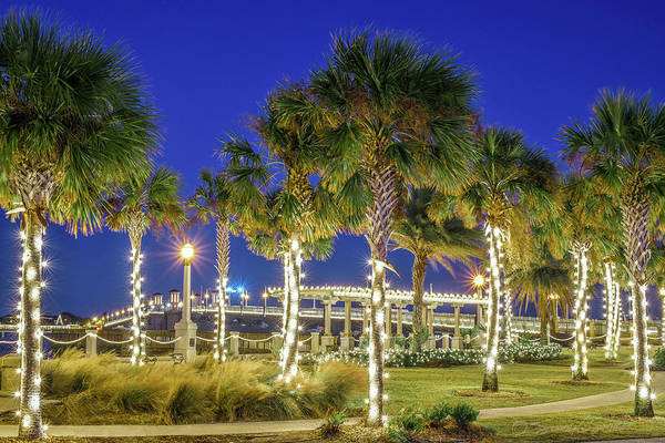 St. Augustine Bayfront Park During Nights Of Lights Art Print