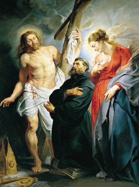 Painting - St. Augustine Between Christ And The Virgin by Peter Paul Rubens