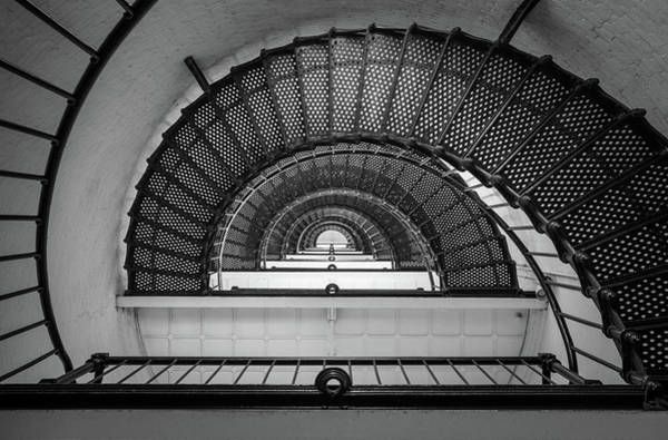 St Augustine Photograph - St Augustine Florida Lighthouse Anastasia Island Fl Black And White Architecture by Dave Allen