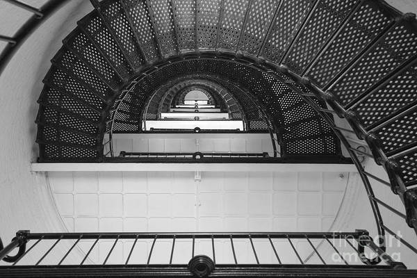 Photograph - St. Augustine Lighthouse Spiral Staircase IIi by Clarence Holmes