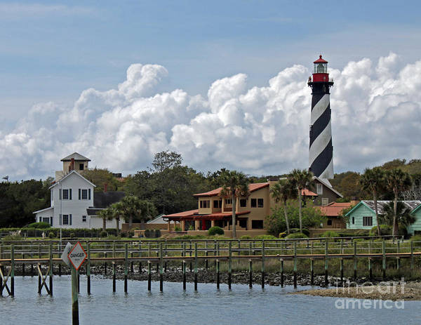 Steve Augustine Photograph - St Augustine Lighthouse by Steve  Gass