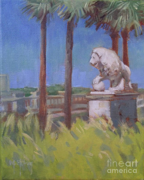 Matanzas Inlet Wall Art - Painting - St. Augustine Lion by Mary Hubley