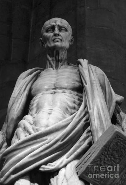 Photograph - St. Bartholomew Black And White by Gregory Dyer
