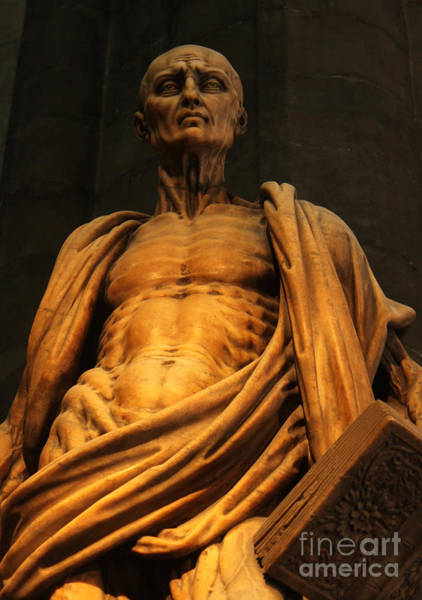 Photograph - St. Bartholomew In Milan Cathedral By Marco D'agrate by Gregory Dyer