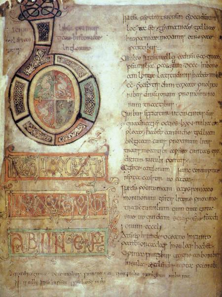 Wall Art - Photograph - St. Bede, Manuscript by Granger