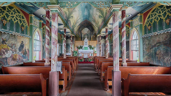 Photograph - St. Benedict Painted Church Interior by Susan Rissi Tregoning