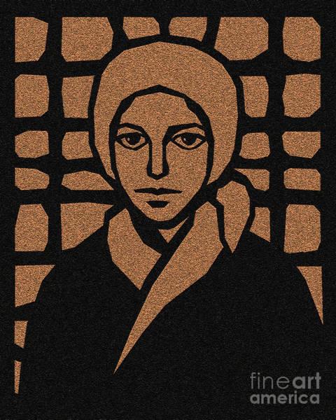 Glass Cutting Painting - St. Bernadette Of Lourdes - Brown Glass - Dbbbg by Dan Paulos