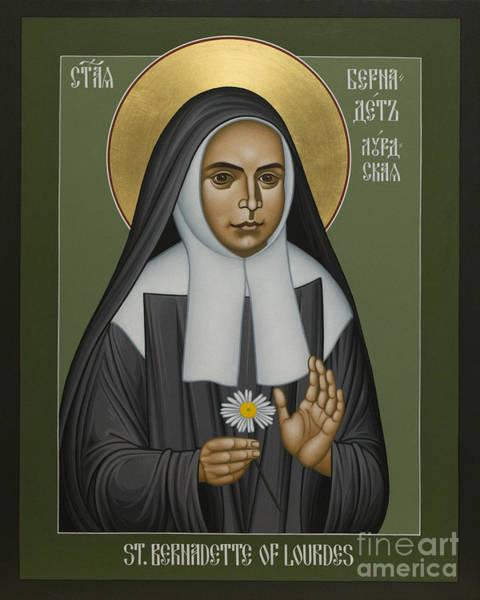 Painting - St. Bernadette Of Lourdes - Rlbol by Br Robert Lentz OFM