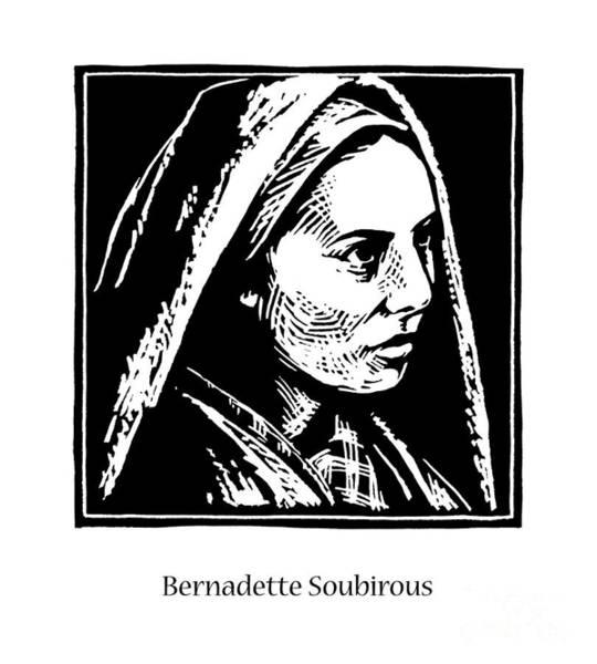 Painting - St. Bernadette Soubirous - Jlbso by Julie Lonneman