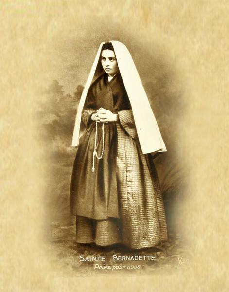 Bernadette Photograph - St. Bernadette Soubirous by Samuel Epperly