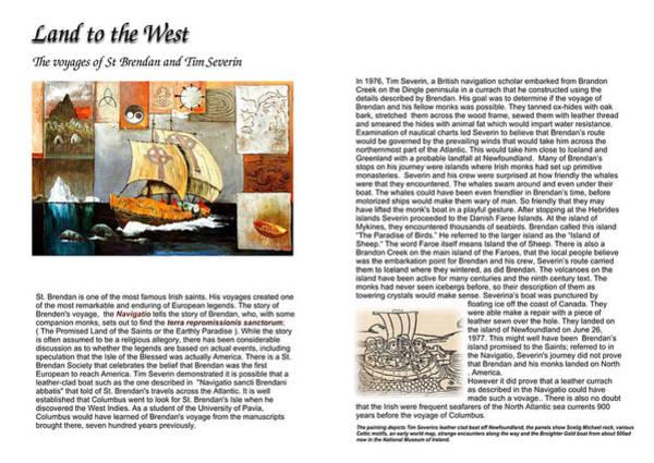 Mixed Media - St Brendan Infor by Val Byrne