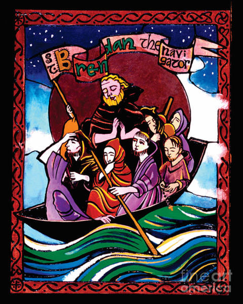 Painting - St. Brendan The Navigator - Mmbre by Br Mickey McGrath OSFS