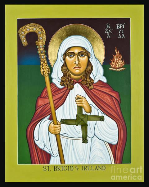 Painting - St. Brigid Of Ireland - Lwboi by Lewis Williams OFS