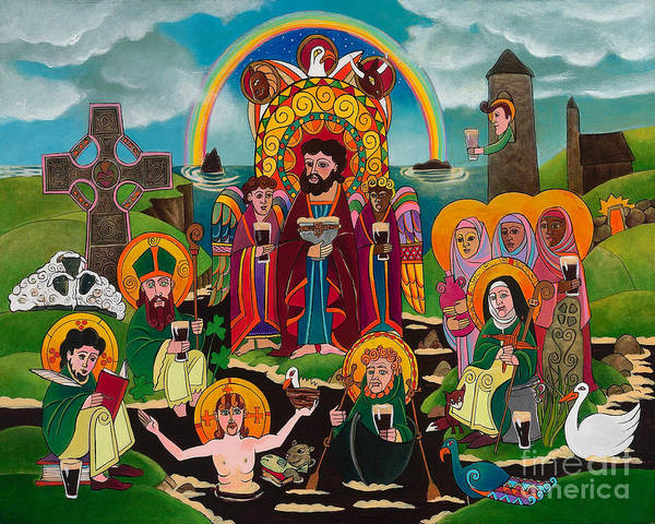 Painting - St. Brigid's Lake Of Beer - Mmbee by Br Mickey McGrath OSFS