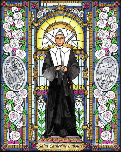 Painting - St. Catherine Laboure by Brenda Nippert