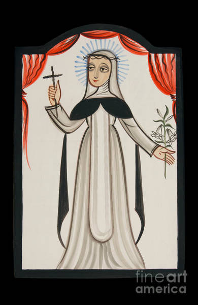 Painting - St. Catherine Of Siena - Aocat by Br Arturo Olivas OFS