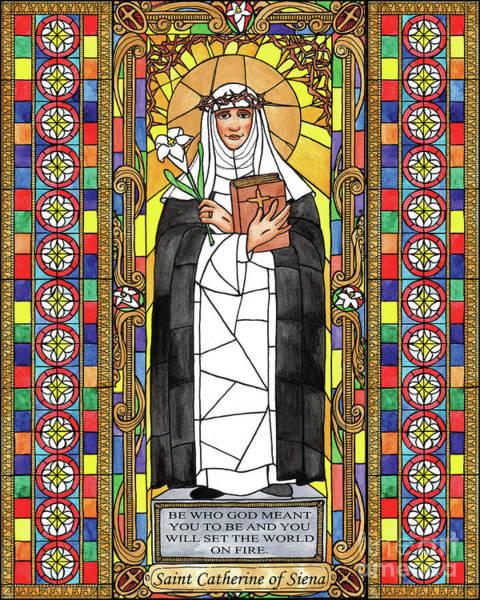 Painting - St. Catherine Of Siena by Brenda Nippert