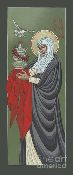 St Catherine Of Siena- Guardian Of The Papacy 288 Art Print