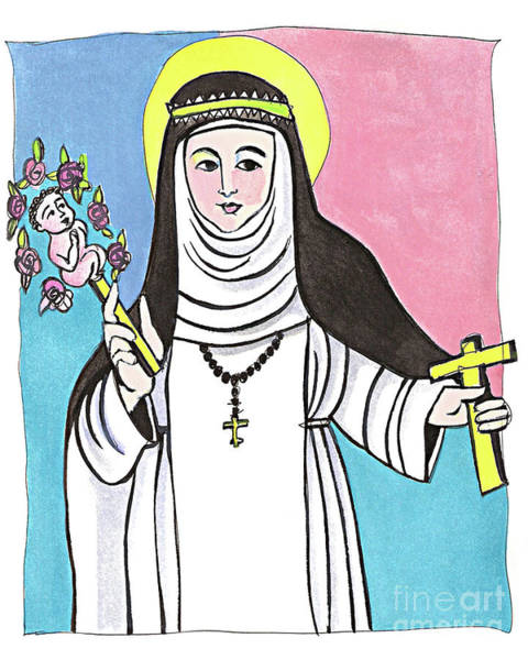 Painting - St. Catherine Of Siena - Mmcsi by Br Mickey McGrath OSFS