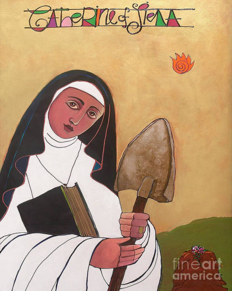 Painting - St. Catherine Of Siena - Mmsie by Br Mickey McGrath OSFS
