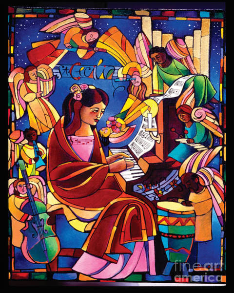 Painting - St. Cecilia - Mmcca by Br Mickey McGrath OSFS