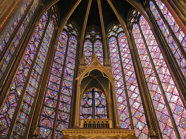 Chapelle Photograph - St Chapelle Paris by Alan Toepfer