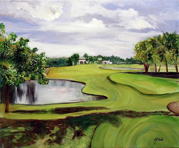 Country Club Painting - St. Charles Country Club  by Carole Sluski