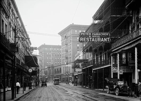 Wall Art - Photograph - St Charles Street - New Orleans C1910 by Mountain Dreams