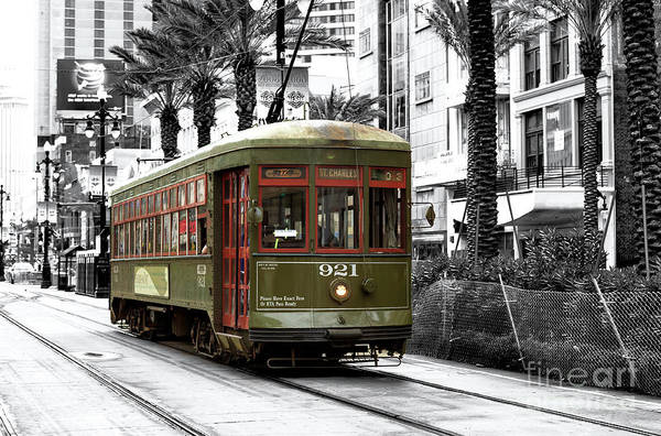 Photograph - St. Charles Streetcar New Orleans by John Rizzuto