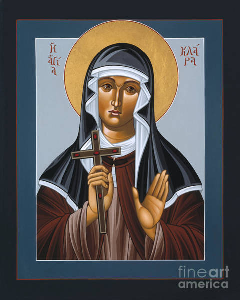 Painting - St Clare Holding The Jewelled Cross 041 by William Hart McNichols