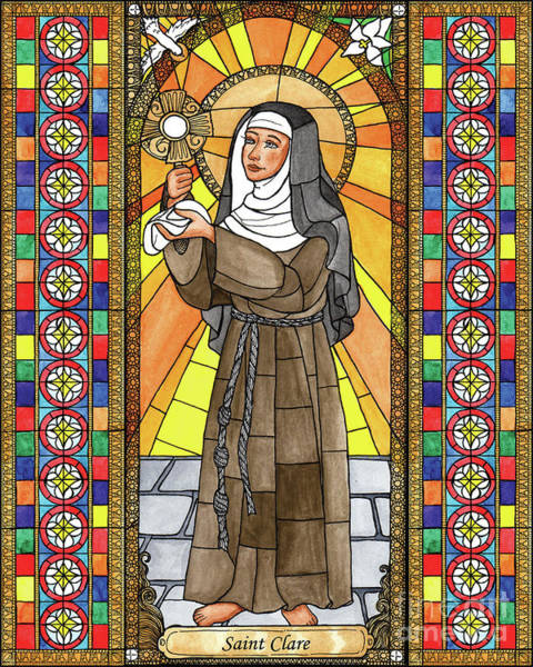 Painting - St. Clare Of Assisi - Bnclr by Brenda Nippert