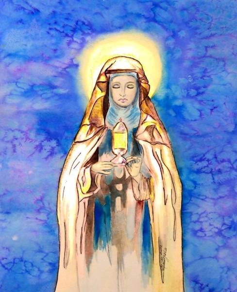 Belief Painting - St. Clare Of Assisi by Myrna Migala