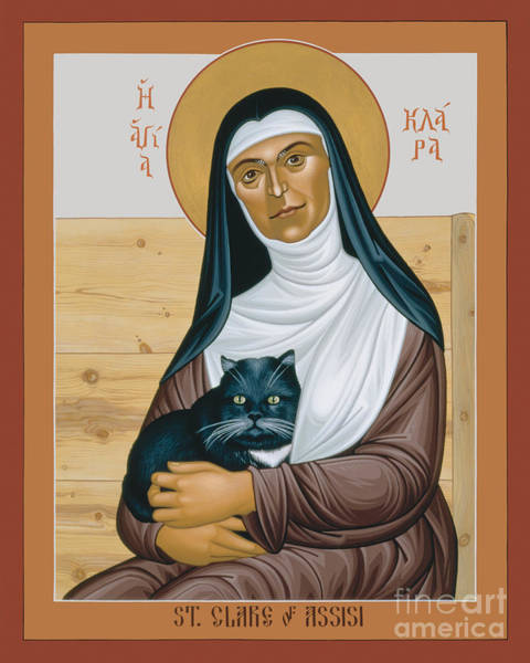 Painting - St. Clare Of Assisi - Rlcoa by Br Robert Lentz OFM