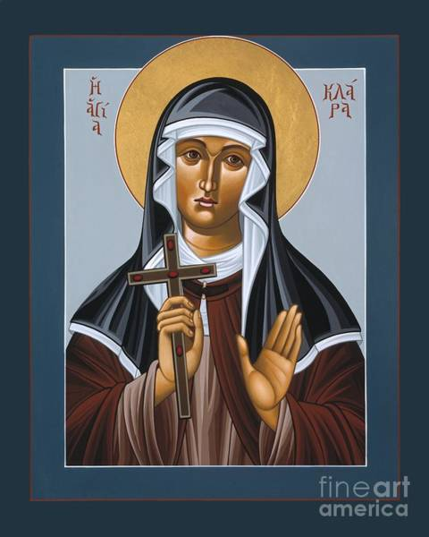 Painting - St Clare With The Jeweled Cross  by William Hart McNichols